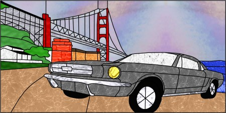 Mustang at the Golden Gate