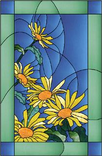 الرســم على الزجاج Daisies.jpg